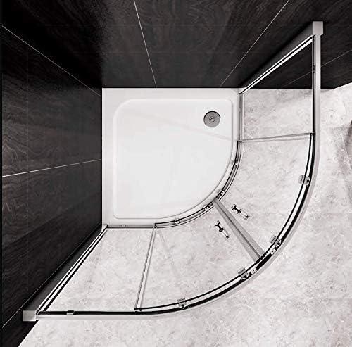 90 x 195 cm cerca de la ducha cabina de ducha Puerta de ducha Puerta de cuarto de círculo de mampara de ducha incluye revestimiento NS7-90E V2: Amazon.es: Bricolaje y herramientas