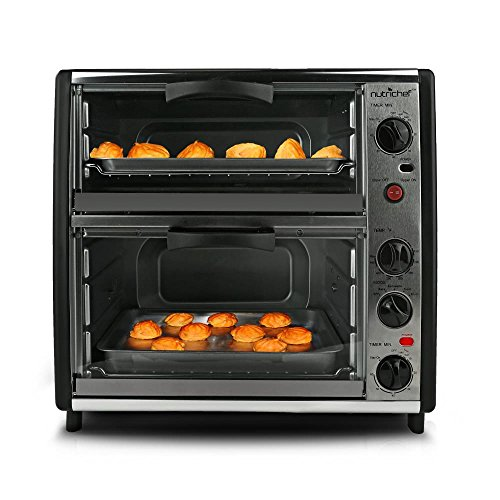 nutrichef-pkmfto26-multi-function-dual-oven-with-rotisserie-and-roast-cooking