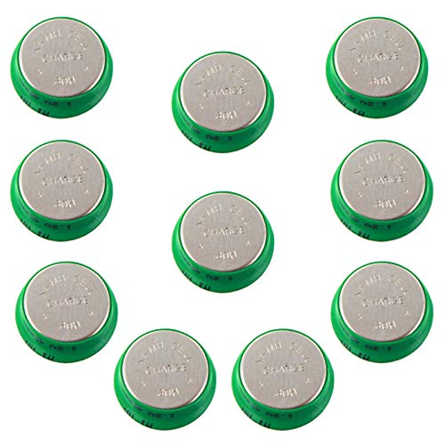 - 10pc Button 40mAh Rechargable 1.2V NiMH Flat Top Batteries use with electric mopeds meters two radios electric razors toothbrushes cameras mobile phones pagers medical instruments/equipment USA SHIP