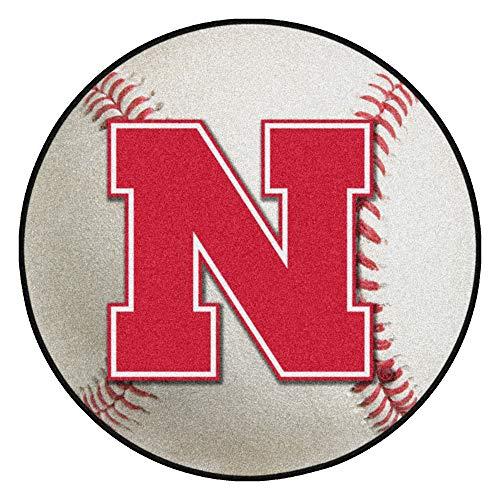 FANMATS NCAA University of Nebraska Cornhuskers Nylon Face Baseball Rug