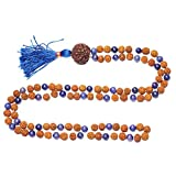 Throat Chakra Malabeads Lapiz Lazuli Rudraksha Prayer Yoga Mala 108