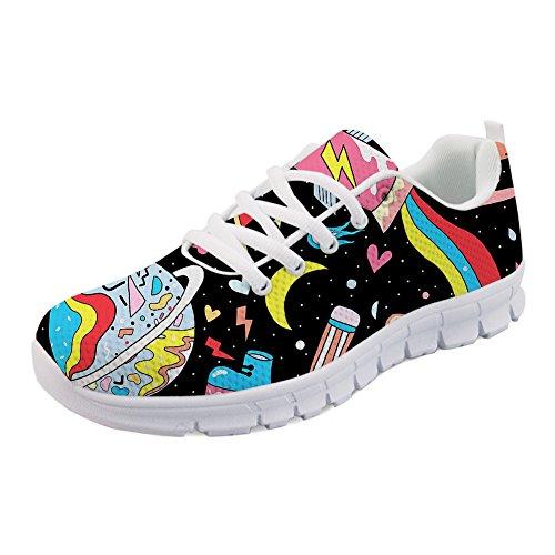 Abbracci Idea Cartone Animato Pianeta Stampa Leggero Sneakers Da Corsa Scarpe Da Tennis Pianeta 3