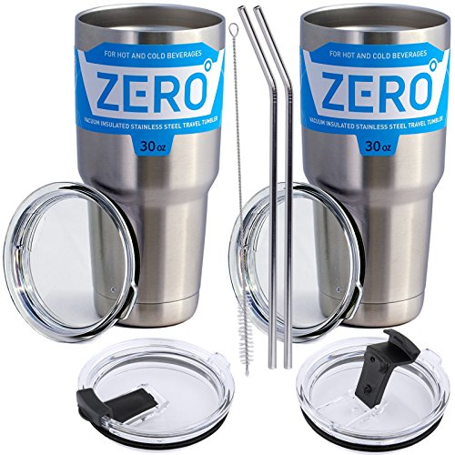 ler with Lid, Double Wall Vacuum Insulated Travel Mug for Hot and Cold Drink by Zero Degree (30oz 2 Pack) (Degree Fitting)
