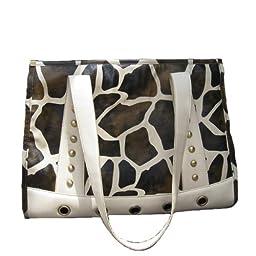Backbone Faux Giraffe Leather Pet Carrier
