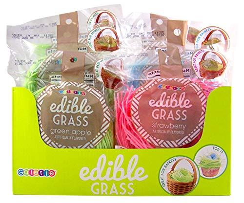 Edible Grass (Assorted Flavor Edible Easter Grass Basket FIller, Pack of 6)