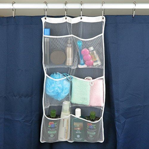 Evelots Hanging Shower Caddies Pockets