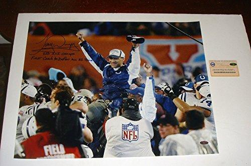 Colts Hof Tony Dungy Signed Steiner 16x20 Photo 2 Inscriptions Sb Xli Champs + (Tony Dungy Sb)