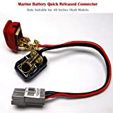 SEAMAX 16'' Quick Released Connector for Marine Battery Terminal, Suitable for Speed Max 40'' Shaft Model only