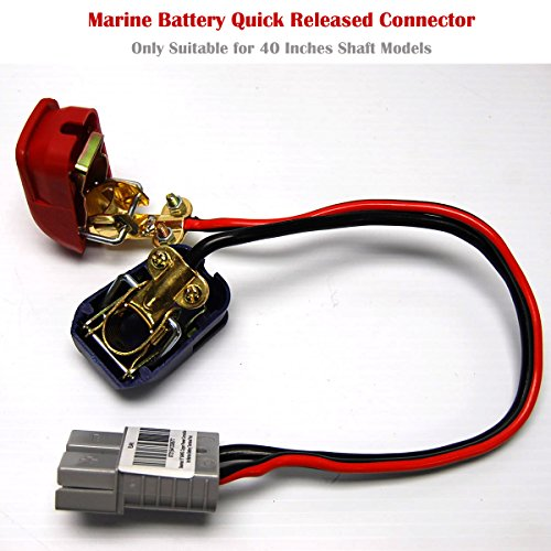 SEAMAX 16'' Quick Released Connector for Marine Battery Terminal, Suitable for Speed Max 40'' Shaft Model only by SEAMAX