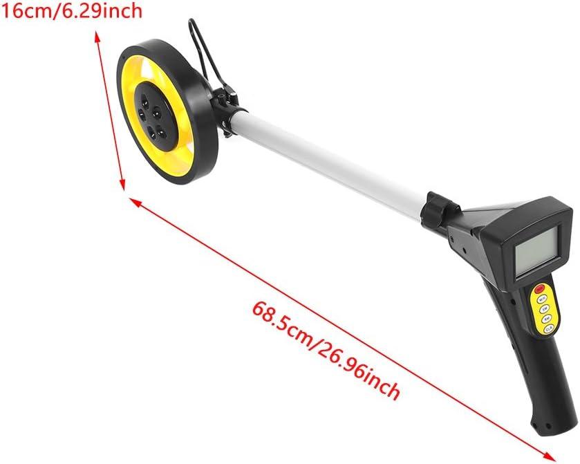 rueda de medici/ón de distancia con asa plegable y bolsa de almacenamiento rueda de medici/ón mec/ánica. Rueda de distancia