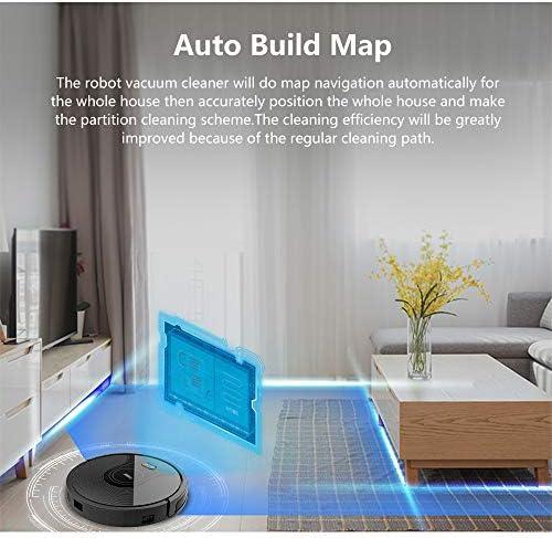 DWDADYYY Aspirateur Robot, Grand réservoir d\'eau, Mise à Niveau à Distance, APP WiFi, Carte 2D, mémoire Intelligente
