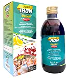 Ceregumil Liquid Iron Supplement for Anemia w/Cyanocobalamin B12 - Folic Acid - with Fresh Lemon Taste Energy Booster High Potency - 250 mL