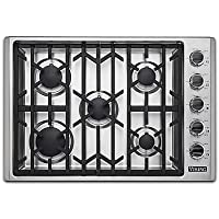 Viking 30 Natural Gas Cooktop, Stainless Steel Simmer Setting Black Chrome Knobs VGSU53015BSS