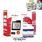 Diabetes Test Kit Accurate Measurement Includes 1 Blood Glucose Meter, 1 Blood Collection Pen, 50 Blood Test Strips, 50 Blood Collection Needle, 1 Carrying Case