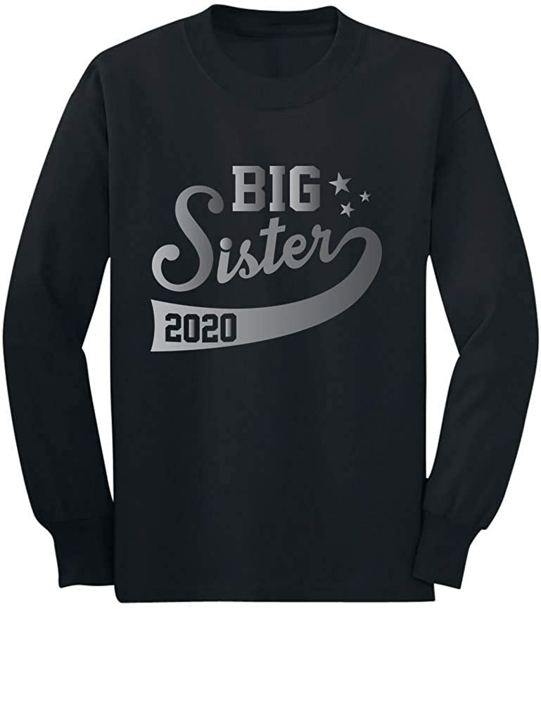 Big Sister Est 2020 Outfit Sibling Gift Idea Toddler//Kids Long Sleeve T-Shirt