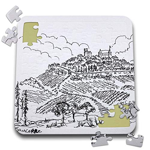 Vineyards Loire Valley - 3dRose Danita Delimont - France - Walled City of Sancerre Surrounded by Vineyards, Loire Valley, France - 10x10 Inch Puzzle (pzl_313138_2)