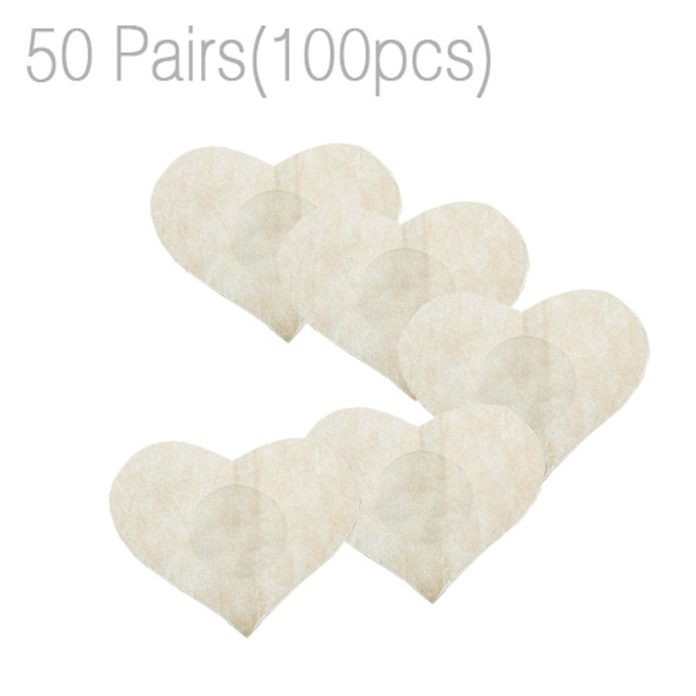 50 Pairs Womens Multi Shaped Adhesive No Show Disposable Breast Petal Pasties QIANDUOO