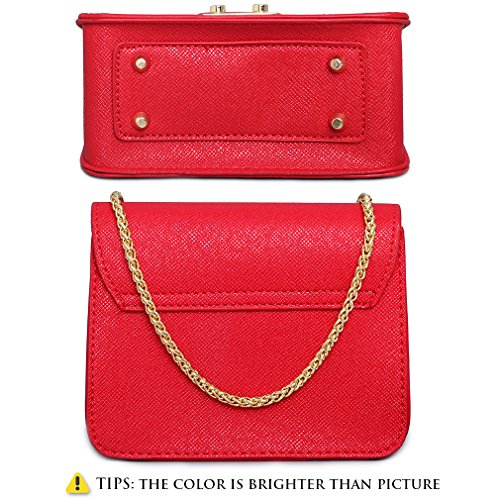 Black Crossbody Evening Clutch Purse Small Red for Women Evening Size Chain Shoulder Clutch Red Mini very Formal Bag Bag Bags xIPPqS