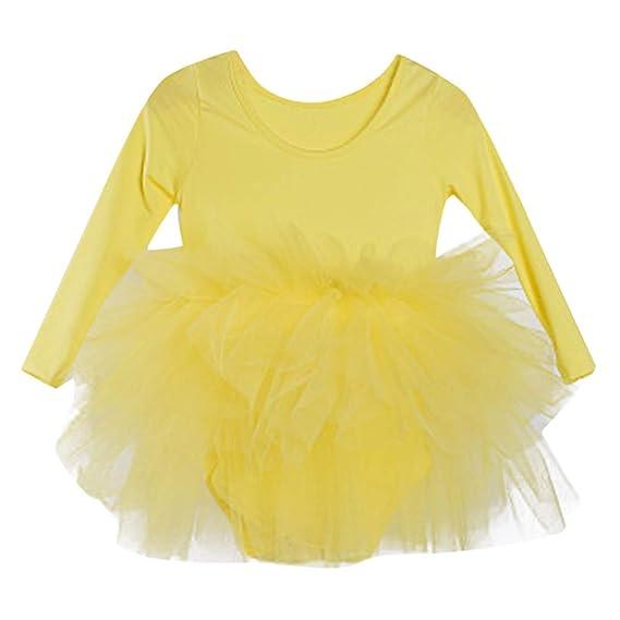 83defea29 Mitlfuny Verano Niñas Bebé Danza Rendimiento Gimnasia Vestidos sin ...