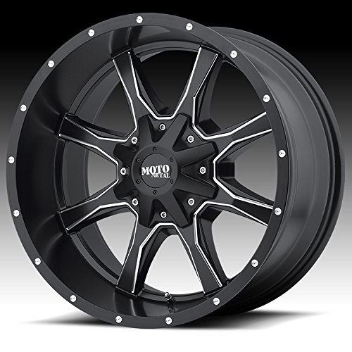 Moto Metal Rims (Moto Metal MO970 Semi Gloss Black Wheel Machined With Milled Accents (16x8