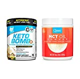 BPI Sports Keto Bomb 18 srv & Quest Nutrition MCT Oil Powder 16 oz - Sugar Free Creamer Bundle to Support Weight Loss, Energy and Overall Health, Perfect for Ketogenic Diets (French Vanilla Latte)