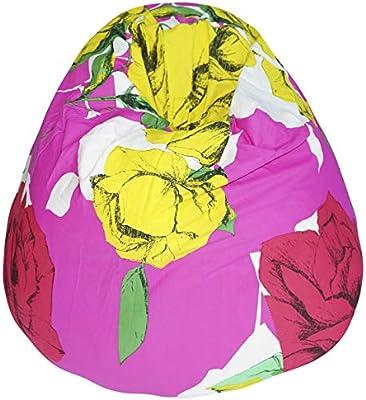 Astounding Kas Australia Cotton Tabitha Beanbag Cover Pink And Yellow Frankydiablos Diy Chair Ideas Frankydiabloscom