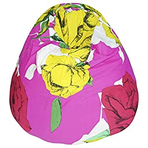 Kas Australia Cotton Tabitha Beanbag Cover, Pink And Yellow
