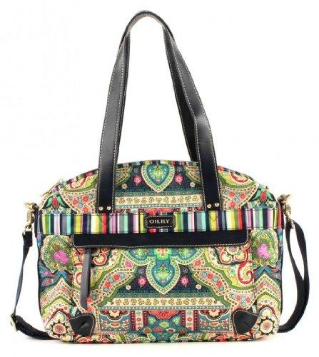 Oilily Carry All M/Mittel Handtasche Winter Ovation in Indigo Biscuit oder Coffee Farbe:Indigo