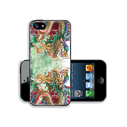MSD Premium Apple iPhone 5 iphone 5S Aluminum Backplate Bumper Snap Case IMAGE ID: 10540069 Dragons in chinese - 427 Temple