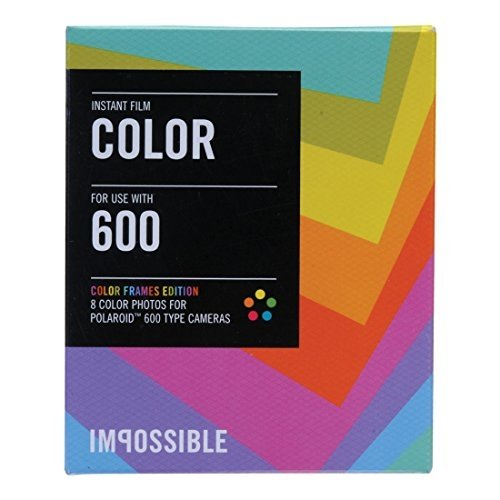 Impossible PRD2959 Color Film for Polaroid 600-Type Camera Frame 5-Pack by Impossible