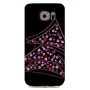 Merry Christmas Design Phone Case for Samsung Galaxy S6 Edge Cute Black Plastic Cover
