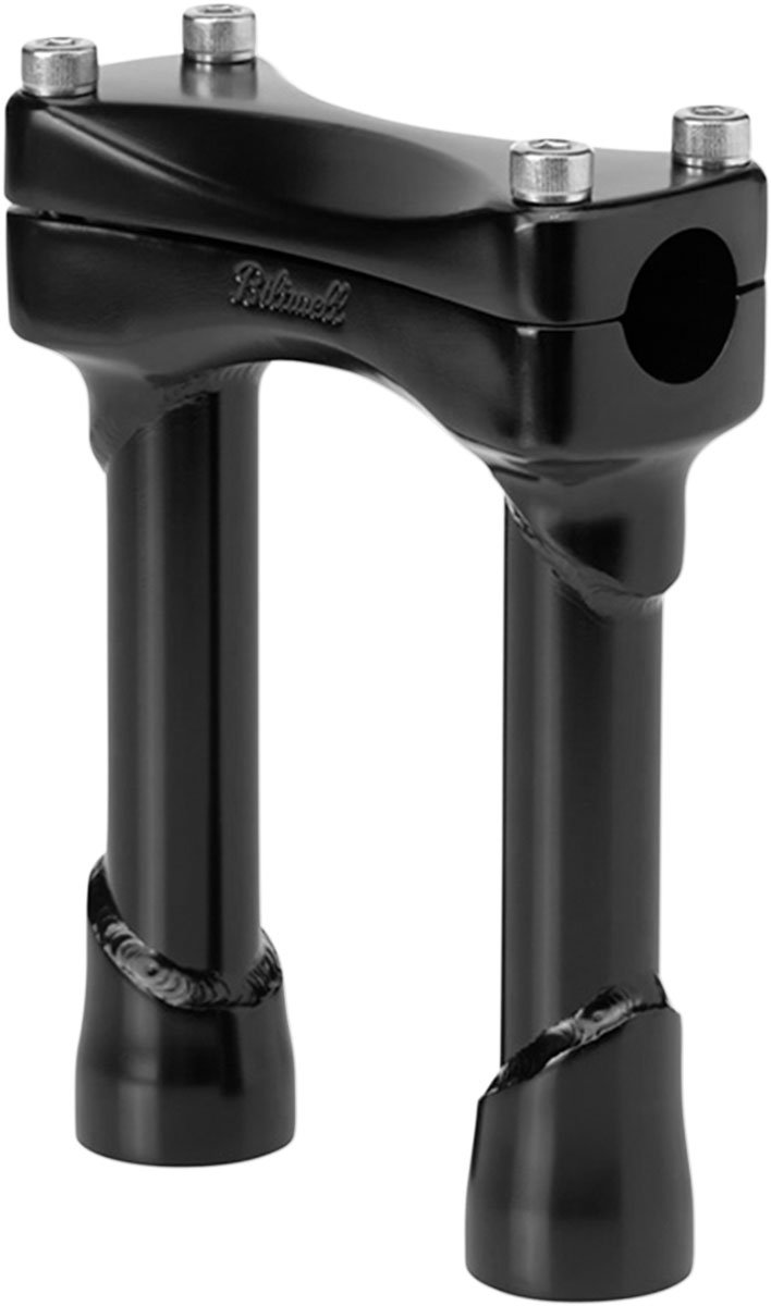 BILTWELL Motorcycles Investment-cast Steel Risers Murdock 6 inch Black