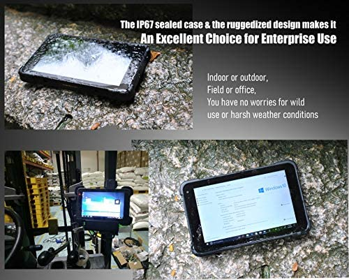 Vanquisher 8-Inch Industrial Rugged Tablet PC, Windows 10 Pro/GPS GNSS / 4G LTE/Drop Survival, for Enterprise Field Mobility