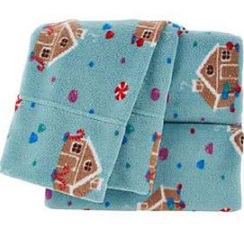 Berkshire Blanket Polar Fleece Sheet Set Gingerbread House