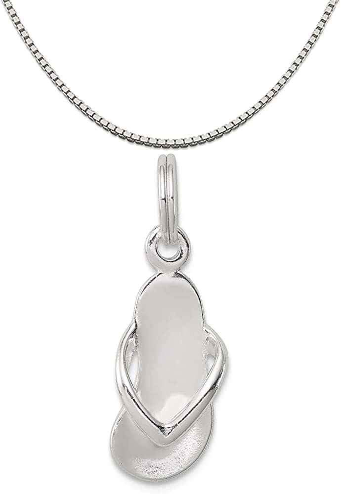 Mireval Sterling Silver Antiqued Fish Charm on a Sterling Silver Chain Necklace 16-20