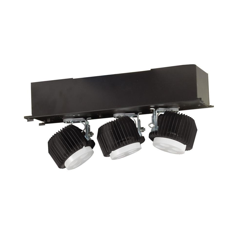 Jesco照明ml431lu101240b 3つライトハウジングとトリムユニット、ブラック仕上げ B00BXN1XM2