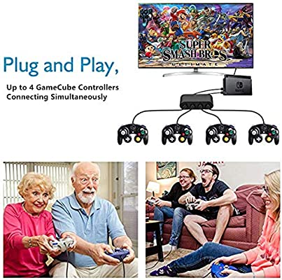 Adaptador de Controlador de Gamecube Compatible con Wii U, Switch y PC USB: Amazon.es: Electrónica