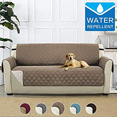 PETCUTE Sofa Cover Luxury Sofa slipcover Sofa Protector for Pets Quilted Sofa Furniture Protector Three Seater