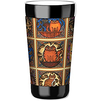 Paw Prints Art Plates 878-TUM Mugzie 16 Ounce Travel Mug Drink Cup with Removable Insulated Wetsuit Cover