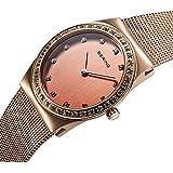 Bering Time - 12430-366 - Montre Femme - Quartz Analogique - Bracelet Acier Inoxydable Or et Rose
