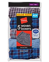 Hanes Boys Red Label Tartan Boxer - Medium, Assorted Plaid