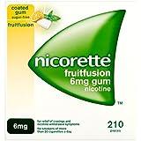Nicorette Fruitfusion Gum 6 mg, 210 Pieces