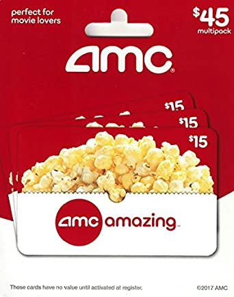 AMC Theatre Gift Cards Multipack Of 3