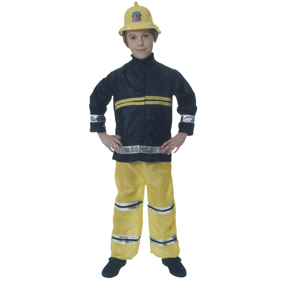 HENBRANDT Boys Fireman Sam Fire Fighter Fancy Dress Up Costume Kids Outfit Party Free P/&P World Book Day//Week 4-6 years