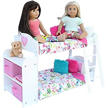 Captivating 20 Pc. Doll Bedroom Set For 18 Inch Doll. Includes: Bunk Bed,
