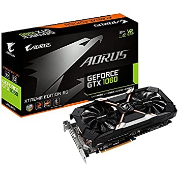 Gigabyte AORUS Xtreme GeForce GTX 1060 6G REV 2.0 Computer Graphics Card - GV-N1060AORUS X-6GD REV2.0