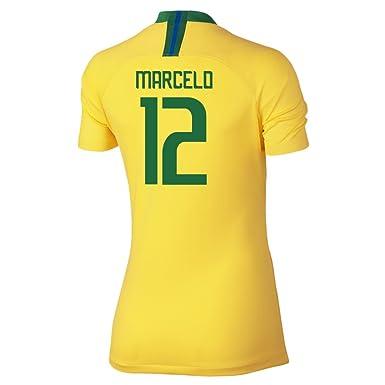 Nike Marcelo  12 Brazil Home Jersey Women s Soccer Jersey World Cup Russia  2018 (XS 668f19d508
