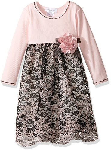 Bonnie Jean Little Girls' Toddler Embroidered Border Organza, Pink, (Fancy Dress For Toddlers)