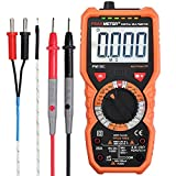 Neoteck Digital Multimeter 6000 Counts PM18C AC DC Voltage Current Resistance Tester Non-Contact Voltage Test Temperature Multimeter Voltmeter Ammeter Ohmmeter with LCD Backlit