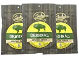 Jerky.com s Original Buffalo Jerky - 3 PACK - The Best Wild Game Bison Jerky on the Market - 100% Whole Muscle Buffalo - No Added Preservatives, No Added Nitrates and No Added MSG - 6 total oz.